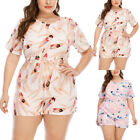 Womens Summer Romper Shorts Pants Loose Short Sleeve Mini Jumpsuits Playsuits
