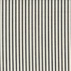 Carolina Linens Rod Pocket Curtains in Farmhouse Black Ticking Stripe
