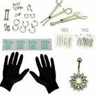 41 Pcs Professional Body Piercing Set Tool Kit Ear Nose Navel Nipple Needles