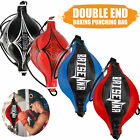 PU Leather Double End Boxing Speed Ball Punching Bag MMA Kickboxing Training US