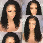 Pre Plucked Brazilian Human Hair deep soft curly Wigs Glueless Lace Front Wigs