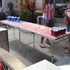 US Design 8 Foot Beer Pong Table Portable Party Drinking Game Table Tailgate NEW