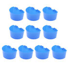 10x Pigeon Parrot Chick Coop Feeder Cups Bowls Plastic Sand Cups L/S Size