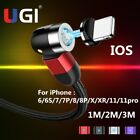 540° 3A Magnetic USB C Charger Cable For iPhone 5 6 7...