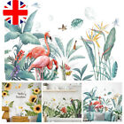 Pvc Tropical Plant Wall Stickers Decal Nursery Art Green Leaves Mural Home Decor