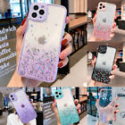 For iPhone 11 12 Pro Max XS XR 8 7 Plus Clear Shockproof TPU Bling Case Cover