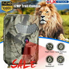 1080P Hunting Trail Camera Outdoor Wildlife 12MP Scouting Cam Night Vision U8H9