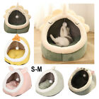 Pet Cat Bed Kennel Winter Hooded Sleeping Cushion Pad Puppy Kitten House