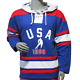 USA Hockey Youth Miracle on Ice 1980 USA Hockey Team Jersey Authentic Hoody Lace