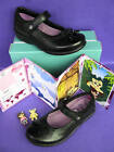 CLARKS GIRLS DAISYWATCH BLK LEATHER SHOES WITH TOY(NIB)