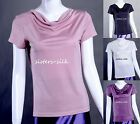 WOMENS LADIES 100% SILK KNITTED T-SHIRTS SHORT SLEEVE CASUAL TOP TEE BLOUSE