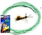 Wonderfurl Low Vis Green Furled Fishing Leader + Ring