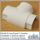 D-Line 60x30 Equal T Junction for Cable Covers Trunking