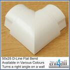 D-Line 50x25 Flat Bend for Cable Tidy Wire Hide Covers