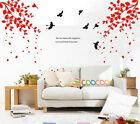 Wall Decor Decal Sticker vinyl large tree spring leaves
