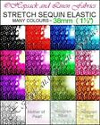 "1½"" STRETCH 4 Row ELASTIC SEQUIN TRIM 38mm Wide Dance sew dress Trimming"
