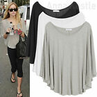 AnnaKastle New Womens Silky & Soft Cape Poncho Summer Top T shirt size S - L