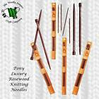 Pony LUXURY ROSEWOOD KNITTING NEEDLES - length 35cm
