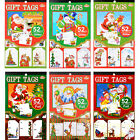 52 Piece Christmas Adhesive Glitter Foil Gift Tag Book