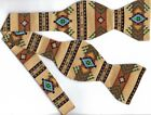 (1) SELF-TIE BOW TIE SOUTHWEST NAVAJO INDIAN RUG DESIGN
