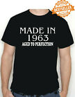 Made In 1963 BIRTHDAY T-shirt / Tee / Aged To Perfection / Xmas / Party / S-XXL