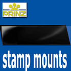 Prinz Stamp Mount Strips - standard top opening black backed - per 25 large size