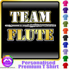 Flute Team - Personalised Music T Shirt 5yrs - 6XL by MusicaliTee