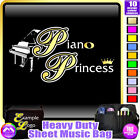 Piano Princess - Sheet Music & Accessories Personalised Bag by MusicaliTee