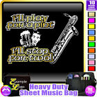 Sax Baritone Play For A Pint - Sheet Music & Accessories Bag by MusicaliTee