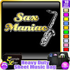 Sax Tenor Maniac - Sheet Music & Accessories Personalised Bag by MusicaliTee