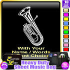 Baritone Picture With Your Words - Sheet Music & Accessories Bag by MusicaliTee