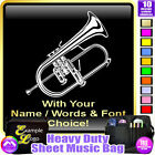 Flugel Horn Picture With Your Words - Sheet Music & Accessories Bag MusicaliTee