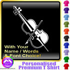 Cello Picture With Your Words - Custom Music T Shirt 5yrs - 6XL by MusicaliTee