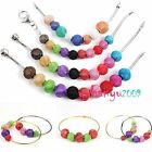 Multicolor Metal Mesh Wire Rondelle Ball Charms Beads Fit European Bracelet 16mm