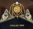 WESTERN COLLAR TIPS GOLD OR SILVER HAT OR SADDLE FOR LADIES SHIRTS VINTAGE