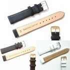 Black Brown White High Quality Genuine Soft Leather Watch Band Strap 6mm-24mm