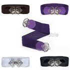 Women's Lovely BUTTERFLY Buckle Faux Leather ELASTIC Stretch Belt S/M/L/XL/2XL