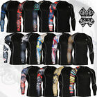 Mens Best Base layer Clothing Compression Tights Printing Top S~2XL Skin shirt