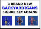 3 BACKYARDIGANS MINI FIGURE KEY CHAINS PULLS  PABLO TYRONE & UNIQUA YOU PICK ONE