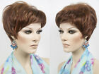 Short Straight Layered Pixie Style Tapering at the Nape Blonde Brunette Red Wigs