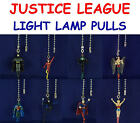 8 NEW DC COMICS JUSTICE LEAGUE FIGURE LIGHT FAN LAMP PULL CONNECTOR YOU PICK ONE