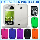 SILICONE CASE COVER SKIN FOR SAMSUNG GT-S5570 ALAXY MINI , MULTI COLORS +FREE SP
