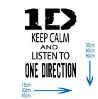 Keep Calm and listen to One Direction, 1D Logo, Kids Bedroom, Playroom, WA0140
