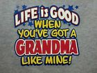 Life Good w/ Grandma ! Child's Tee Sweet Cute Infant Baby Toddler Youth T-Shirt