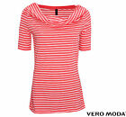VERO MODA DAMEN SHIRT, TOP, OBERTEIL DEAR WATERFALL 2/4 TOP GR. S, M, L, XL