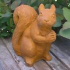 Cast Stone Cement Sitting Squirrel Outdoor Garden Statue