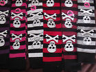 SHE SKULL LADIES / CHILDRENS OVER KNEE SOCKS GOTHIC/PUNK NEW FREEPOST