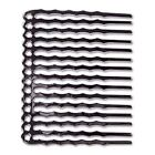 8 Black Oxide Flat Wire Hair Combs with 14 Holes *