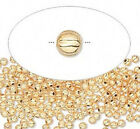 100 OR 1000 Gold Plated Brass Corrugated Round Beads  * 2.5mm