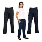 New Ladies Cargo Combat Work Wear Trousers Navy or Black Sizes 10 to 20